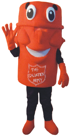 salvation army mascot costume